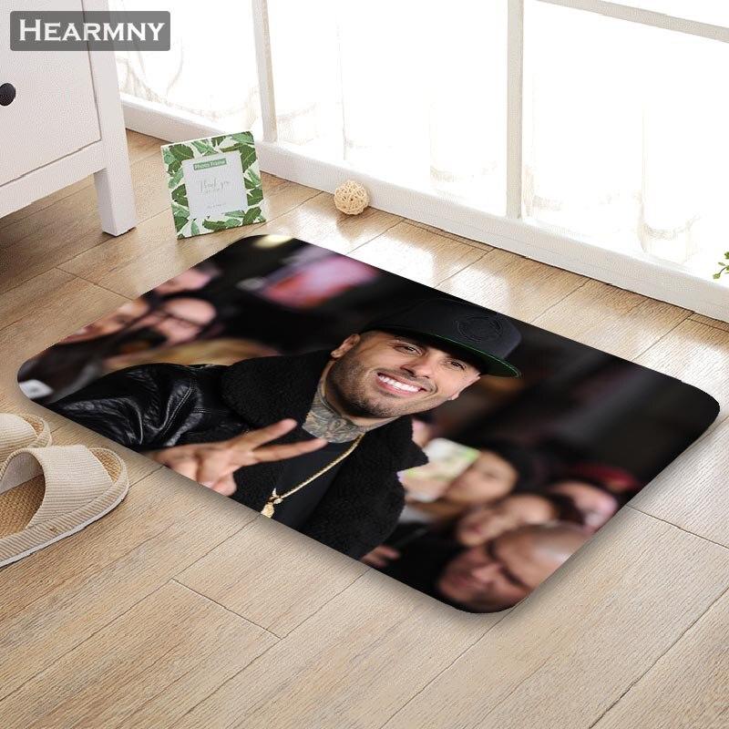 Cute 3D Dog Flannel Bedroom Room Floor Rug Carpet Non-slip Doormat Home Decor Li