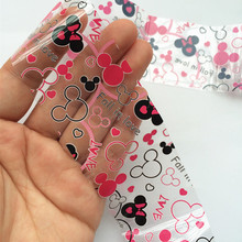 1Roll Foil Nail Art Sticker Fall in Love Mickey Mouse Stick On Nails For Manicure Transfer Nail Accessories(China)
