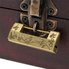 1PC Alloy Antique Bronze Chinese Old Decorative Lock Jewelry Chest Box Lock Padlock for Wooden Wood Suitcase Drawer Cabinet(China)