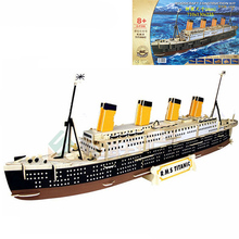 71cm Large 3D Wooden Puzzles Titanic Multifunctional Toys for Kids Puzzle Toys Educational Wooden Puzzle Model Toys for Children