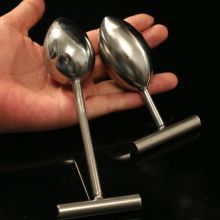 Buy Hot !Stainless steel metal 40mm Diameter sex anal plug,sex products butt plug gay sex toys men women anal dildo,vagina balls
