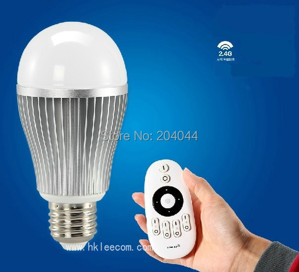 2015 4pc/lot new Wireless E27 6W LED  Lamp Bulb 2.4G Wifi Remote Control Brightness Dimmer for iPhone 5S for iPad IOS Android OS<br><br>Aliexpress