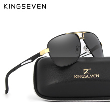 KINGSEVEN 2017 Sunglasses Men Polarized Square Lens Brand Designer Driving Sun glasses Aluminum Classic Frame Oculos De Sol 7821(China)