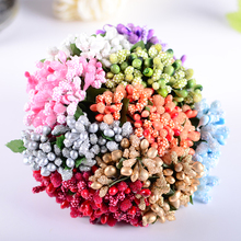 144PCS Multicolor Pip Berry Flower For Wedding Candy Cake Box Scrapbook Decors Artificial floral pistil stamen W/Wire Stem