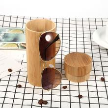 Natural Handmade Men Women Glasses Case Bamboo Shell Hard Case Wooden Frame Glasses Box Round Bamboo Sunglasses(China)