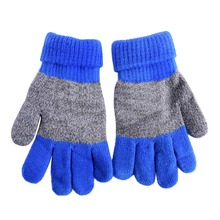 Autumn Winter Kids Gloves Boys Girls Mittens Thick Warm Cashmere Student Five Fingers Gloves 2016
