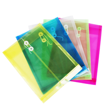 5PCS Simple Solid Color Plastic Transparent A4 Document Data Business Storage File Bag Folder for Papers Stationery