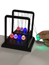 Newton's Multi-Color Light Up Cradle/ Kinetic Energy Physics/DIY  Perpetual Motion Toy/ For Science fun Free shipping