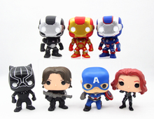 SAINTGI funko POP Captain America 3 Civil War Black Widow Winter Soldier Black Panther 4Styles 10cm Collection iron man
