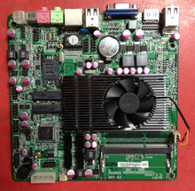 Used,E350 mini motherboard 17 * 17 integrated dual-core CPU, Gigabit Ethernet, sound card graphics card,100% tested good(China)