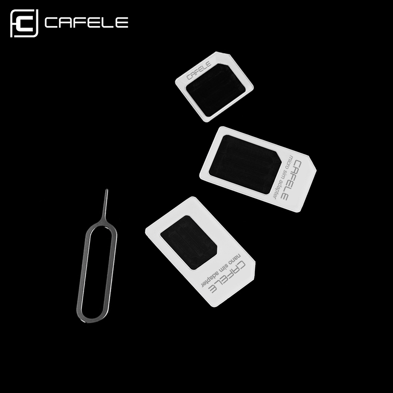CAFELE 4 in 1 Sim Card Accessories Suit Micro SIM Card Adapter Tool Support for iPhone 7 6s 5s Samsung Huawei Xiaomi Adapter Kit(China (Mainland))