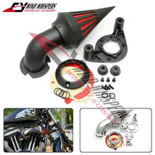 2 Colours Motorcycle Modified Spike Air Cleaner Intake Filter Fits For Harley 1200 883 48 XL XLH1200 Sportster(China)