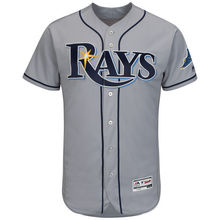 MLB Men's Tampa Bay Rays Baseball Road Gray Flex Base Authentic Collection Team Jersey(China)