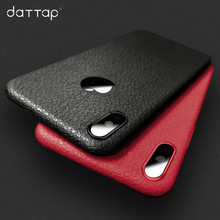 Buy daTTap iPhone 6 6s Plus Case Ultra Thin Leather Skin Logo Hole Soft TPU Silicone Cover Back Case iPhone 7 7 Plus X Coque for $1.89 in AliExpress store