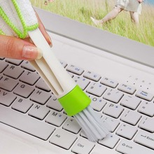 Sale 1PC Two Way Blinds Cleaner Dedusting Brush Louver Cleaning Brush Keyboard Dust Wiper Computer Car Clean Tools