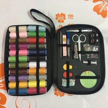 Urijk Portable Sewing Kits Multi-function Sewing Box Home Essential Accessories Sewing tools Set Multi Colors Sewing Threads(China)