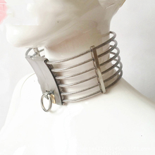 Buy Stainless Steel Slave Collar Bdsm Restraints Bondage Collar Sm Toys Adult Sex Games Fetish Neck Collars Sex Toys Couples