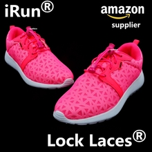 2017 Running Lock Laces~No Tie Elastic Laces Locks with Zip-lock polybag Package~Amazon lock laces Supplier~DHL FREE SHIPPING