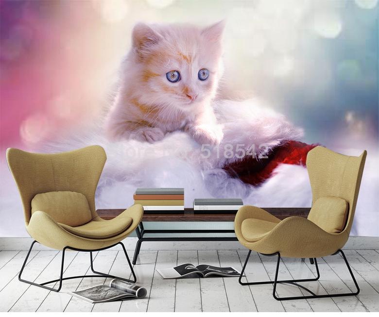 HTB1u2CcRFXXXXb XFXXq6xXFXXXC - Custom Any Size 3D Wall Mural Wallpaper Cute Cat Children Room Bedroom Photo Background Wall Decoration Non-woven Wall Covering