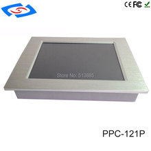 2017 Industrial Panel PC 12.1inch Fanless Embedded Touch Screen All-in-one with Intel Atom N2800 Processor(China)