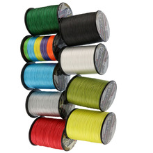 New 8Strands pe super braided fishing line 100Meters spectra moss green yellow white rainbow top online fishing line stores(China)