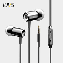 IUVS Universal In Ear Earphones For Phone And Headphone With Microphone For iPhone MP3 3D Noise Isolating In-ear Earbud Earpiece