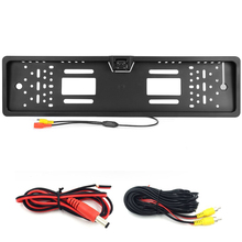 2017 New Arrival 170 European Car License Plate Frame Auto Reverse Rear View Backup Camera 4 LED Universal CCD IR Night Vision