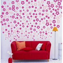 108*3 small broken flower romantic decals marriage room decorations wall sticker sitting room bedroom bathroom stickers