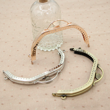 Three Color 13 cm Metal Purse Frame Bag Handle China Online Shop Wholesale Metal Handbag Hanger Obag Handle DIY Accessories(China)
