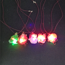 2017 Led Wedding Dress 10pcs Christmas Santa Claus Light Up Led Necklace Glowing Flashing Pendant Toys Party Xmas Gift For Kid