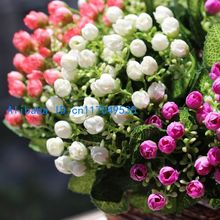 1 PCS Beautiful Mini Silk Roses Bouquet Artificial Flowers Wedding Home Decoration Gift F248(China)