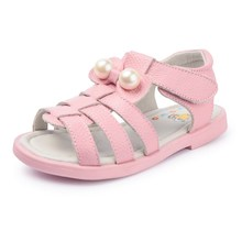 2017 Baby Girl Shoes Genuine Leather Sandals For Kids Soft Sole footwear Girl Princess Summer Sandals pink Beach shoes