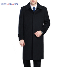 Men's Wool Coats & Jackets Winter Cashmere Jacket Man Long Section Single Breasted Overcoat Turn-down Collar Casual Woolen Coat(China)