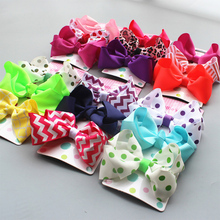 3Pcs/set Fashion Handmade bows Ribbon Rainbow hair clips hairgrip Boutique Girls hair accessories headwear kids hair ornaments