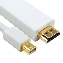BrankBass 1080P 1.8M 6FT Thunderbolt Displayport Mini Display Port DP to HDMI Male Adapter cable For Macbook Mac Air