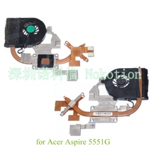 AT0C6006AX0 For Acer Aspire 5551 5551G heatsink Cooling Fan AMD CPU GPU cover warranty 30 days