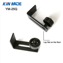 KINMADE YM-25Q Adjustable Black Stay Roller Guide for Sliding Barn Door Lay Flat on the Floor(China)