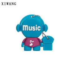 XIWANG cartoon music model USB flash drive usb2.0 4GB 8GB 16GB 32GB 64GB Pendrive memory stick pen music toy u disk wedding gift(China)