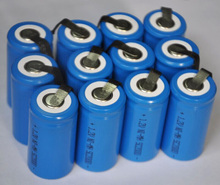 12PCS UNITEK Sub C sc 1.2V rechargeable battery 2000mah ni-mh nimh cell with tab for power tools,vacuum cleaner