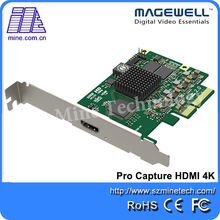One Channel Pro Capture HDMI 4K PCI Express Video Capture Card with SDK