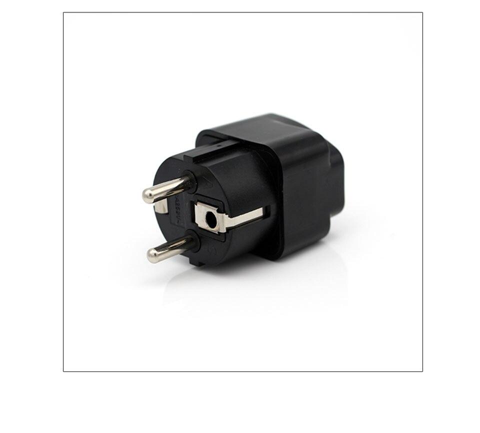 International Travel And Home Universal White Black Adapter Electrical Plug For UK US EU AU to EU European Socket Converter  (13)