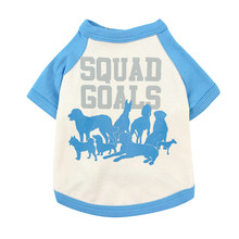 Christmas Dog Clothing Squad Goals Cute Dog T-shirt With Hat Pet Clothing Small Pet Vest Cat Clothes Puppy Costume XS-L(China)
