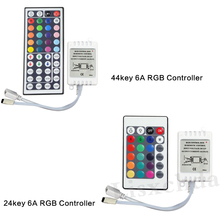 1set Remote Control Dimmer DC 12V 24keys Box 44keys 40keys RGBW LED Controller for SMD 3528 5050 2835 Led Strip Light no battery