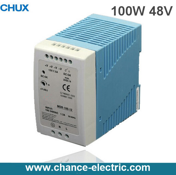 DIN Rail 100W Industry Switching mode Power Supply MDR 100W 48V for cnc cctv  led light  made in china   (MDR100W-48V)<br>