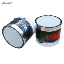 S10 Mini Car Stereo Bluetooth Speaker LED Bright Color Support U Disk TF Card Music Column Loud Speaker Portable Column Radio