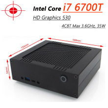 High Performance Mini PC With Intel Core i7 6700T 4C8T Max 3.6GHz, DDR4 M.2 SSD, HD Graphics 530, Windows 10 HTPC,300M Wifi