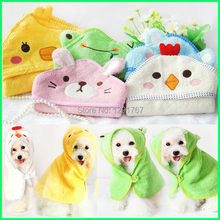 Soft Pet Dog Fashion Cute Cartoon Pajamas Animal Bath Towel Puppy Cats Blanket Clothing Dog Bathrobes Pet Bath Products Clothes(China)