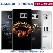 Game of Thrones Originality Design Phone Case Shell Cover For Samsung Galaxy S4 S5 S6 S7 Edge S8 Plus Note 2 3 4 5 C5 C7 A8 A9