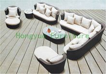 Brown wicker sofa set living room furniture