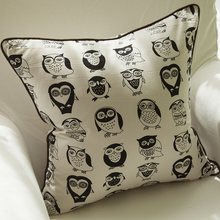 Cartoon Sofa Throw Pillows Cotton Throw Pillows White And Black Sofa Throw Pillows(China)